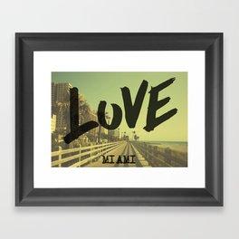 LOVE - Miami - Framed Art Print