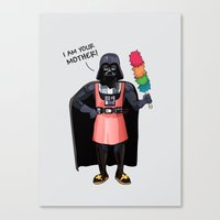 darth vader Canvas Prints featuring Darth Vader by Altay