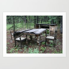 Fine Dining in the Mountains of Colorado Art Print