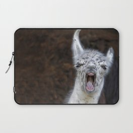Young Lama with a big mouth | Junges Lama mit grosser Klappe Laptop Sleeve
