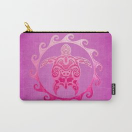 Pink Tribal Turtle Sun Carry-All Pouch
