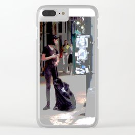 """Getting a Ride"" Clear iPhone Case"