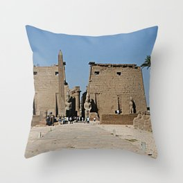 Temple of Luxor, no. 13 Throw Pillow
