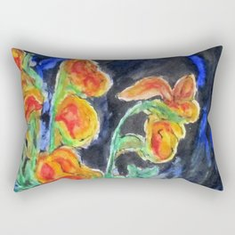 Flowers Of Glass Rectangular Pillow