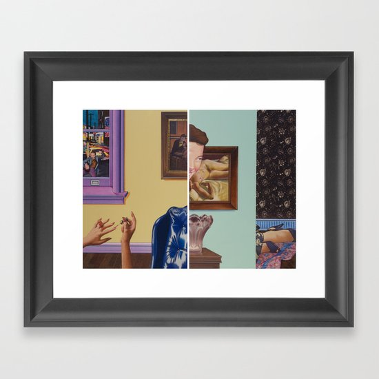 perhaps in another place, or in another time, we could have been friends Framed Art Print