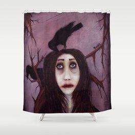 Her eyes...so innocent Shower Curtain