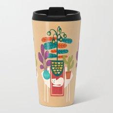 Indoor garden with cat Travel Mug