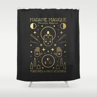 occult Shower Curtains featuring Madame Magique by Carly Watts