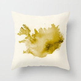 Iceland v2 Throw Pillow