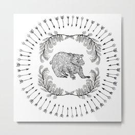 BAD PATCH - BEAR Metal Print