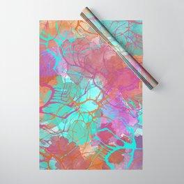 color splatter watercolor digital print Wrapping Paper