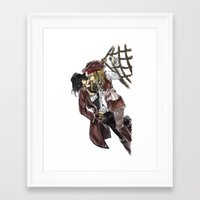 pirates Framed Art Prints featuring PIRATES. by Maryne.
