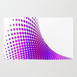 Glitch in the Dot Matrix (Purple) Rug