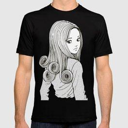 Kirie Goshima Spiral Hair - Uzumaki  (Junji Ito) T-shirt