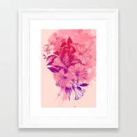 hibiscus Framed Art Prints featuring Hibiscus by Magenda