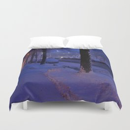Chicago Snow: All is Calm (Chicago Winter Collection) Duvet Cover
