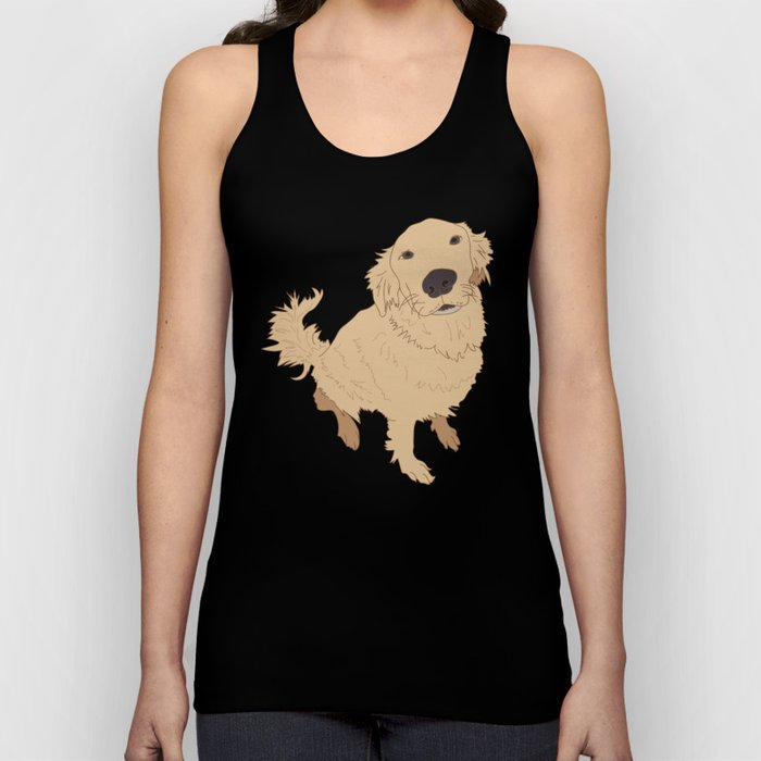 Golden Retriever Love Dog Illustrated Print Unisex Tank Top