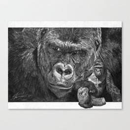 Harambe the Gorilla Tribute Drawing  Canvas Print