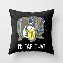 I'd Tap That   Beer Brewery Brewer Throw Pillow