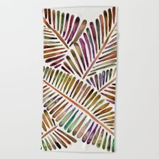 Tropical Banana Leaves – Vintage Palette Beach Towel