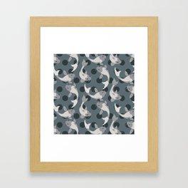 Koi Pond in Shades of Grey Framed Art Print