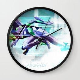 Evangelion Unit 01 - Shinji Ikari's Ride. The Digital Painting. Wall Clock