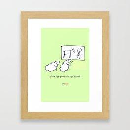 Four legs Framed Art Print