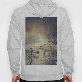 Chinese boat in the mist Hoody