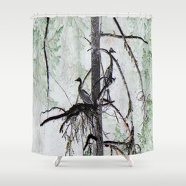 Watchtower Herons.... Shower Curtain