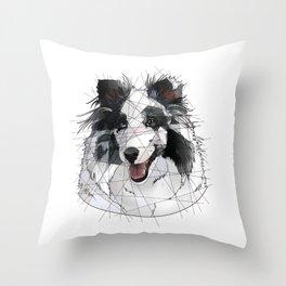 Merle Sheltie Throw Pillow