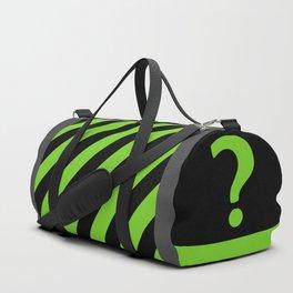Enigma - green question mark Duffle Bag