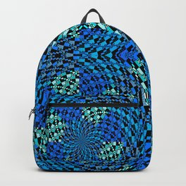 Retro Psychedelic Patchwork Geometry Backpack