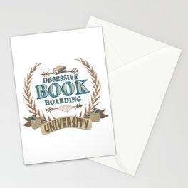 Obsessive Book Hoarding University Stationery Cards