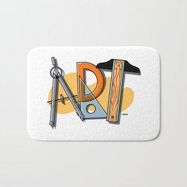 A-R-T Spells Art! Bath Mat