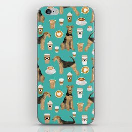 Airedale Terrier coffee print airedale terrier gifts airedale terrier phone case, pillow, home iPhone Skin