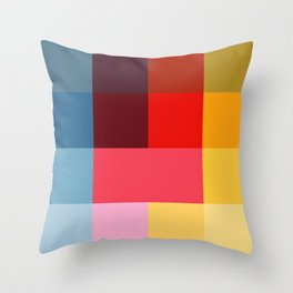 Chromatic squares Throw Pillow
