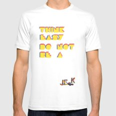 Think easy. MEDIUM Mens Fitted Tee White