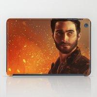 derek hale iPad Cases featuring Hale fire  by Inkforwords