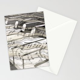 Streaming Piano Music Stationery Cards