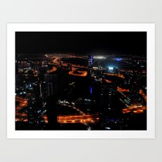 View from the JW Marriott Marquis Dubai Hotel Art Print