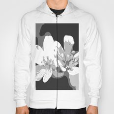 Retro Flowers in Black and White Hoody