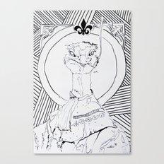 Archiduchesse Anne d'Autruche Canvas Print