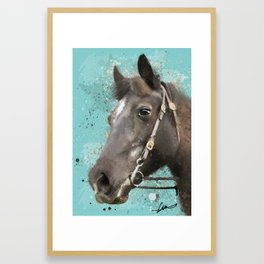Roxy Horse Framed Art Print