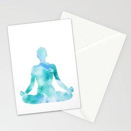 Yoga | Lotus Pose | Padmasana | Sacred Lotus | Asana | Meditation | Blue Stationery Cards