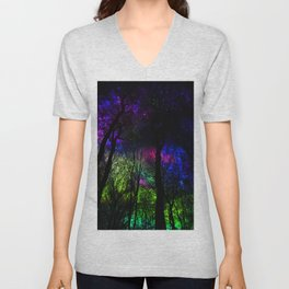 Blissful forest ii Unisex V-Neck