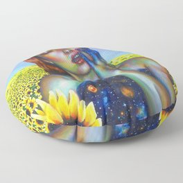 Outer and inner suns Floor Pillow