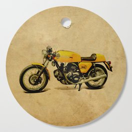 750 GT 1973 classic motorcycle Cutting Board