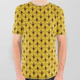 Be safe - save bees All Over Graphic Tee