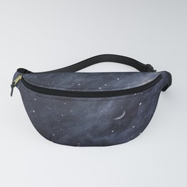 Blue Clouds, Blue Moon Fanny Pack