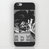 popart iPhone & iPod Skins featuring Charles Bukowski -Popart - bw by ARTito